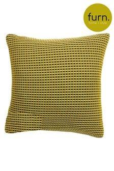 Furn Yellow Rowan Two Tone Waffle Cushion