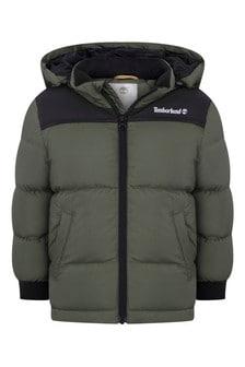 Boys Khaki Puffer Jacket