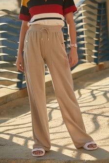 Mink Jersey Wide Leg Trousers