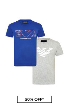 Emporio Armani Boys Blue T-Shirt Set