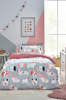 Puppy Pals Reversible Duvet Cover and Pillowcase Set