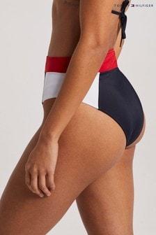 Tommy Hilfiger Red TH 85 High Waist Bikini Bottoms
