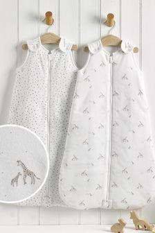 2 Pack Gentle Giraffe 2.5 Tog Sleep Bags