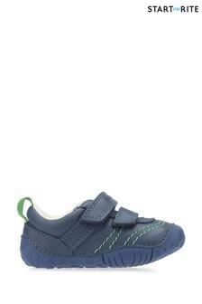 Start-Rite Baby Leo Blue Leather Prewalker Shoes