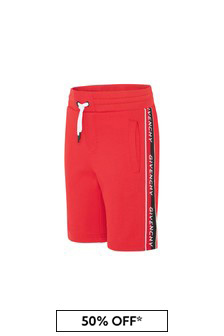 Givenchy Kids Boys Red Cotton Shorts