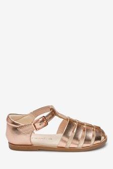Rose Gold Fisherman Sandals
