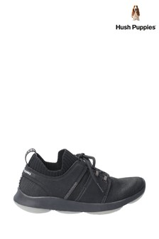 Hush Puppies Black World BounceMax Lace-Up Trainers