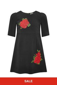 Dolce & Gabbana Kids Girls Black Dress