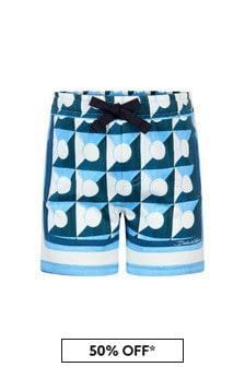 Dolce & Gabbana Kids Dolce & Gabbana Baby Boys Blue Cotton Shorts