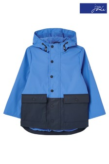 Joules Blue Barton Colourblock Rubber Jacket