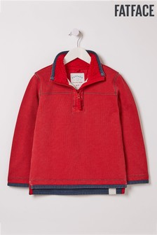 FatFace Red Plain Airlie Top