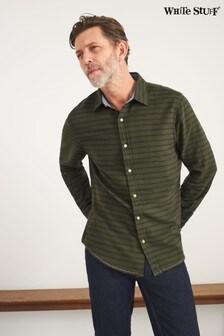 White Stuff Green Horizontal Stripe Shirt