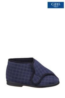 GBS Blue Keswick Bootee Slippers