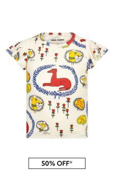 Mini Rodini Boys Cream Cotton T-Shirt