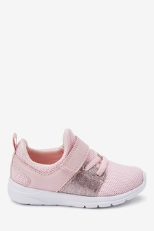 Pink Elastic Lace Sports Trainers (Younger)