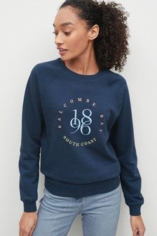 Navy Salcombe 1986 Graphic Sweatshirt
