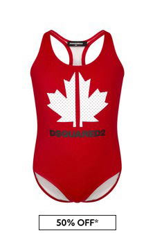 Dsquared2 Kids Girls Red  Swimsuit