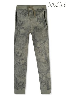 M&Co Kids Green Marble Effect Joggers