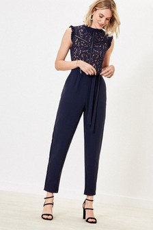 Oasis Blue Lace 2-In-1 Jumpsuit