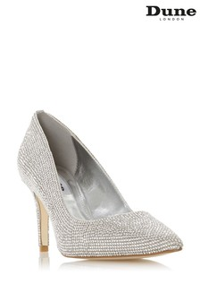 Dune London Bombshell Rhinestone Encrusted Court Shoes