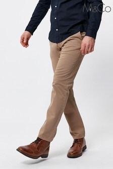 M&Co Men Natural Straight Leg Chinos