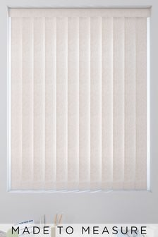Leaf Design Mocha Natural Made To Measure Vertical Blind