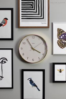 Penny Gold/Grey Dial Wall Clock