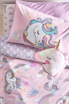 Glow in the Dark Unicorn Duvet Cover and Pillowcase Set