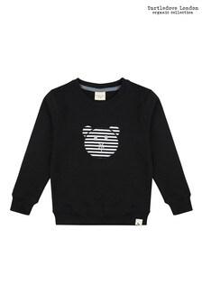 Turtledove London Applique Bear Black Sweatshirt