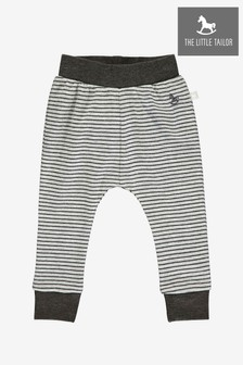 The Little Tailor Grey Yarn Dyed Stripe Jersey Slouch Pants