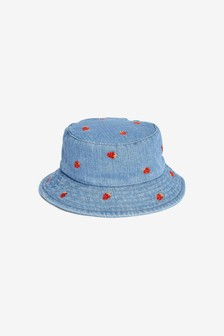 Denim All Over Embroidered Bucket Hat (Younger)