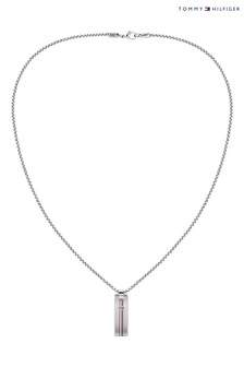Tommy Hilfiger Stainless Steel Dog Tag Necklace