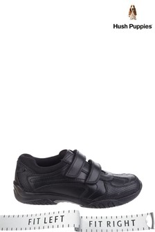 Hush Puppies Black Jezza Senior School Shoes