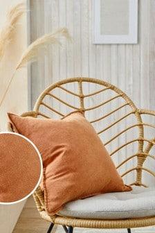 Orange Cotton Linen Blend Cushion