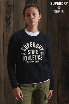 Superdry College Cable Crew Jumper