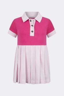 Moncler Enfant Girls Pink Pique Polo Dress