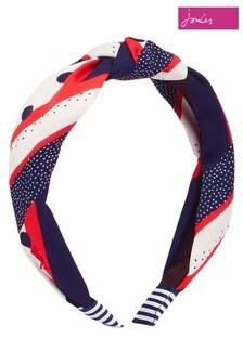 Joules Blue Lovett Printed Headband
