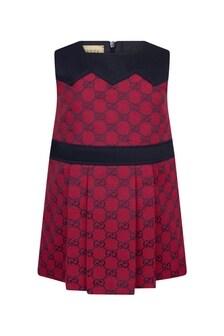 GUCCI Kids Baby Girls Red Cotton Blend Dress