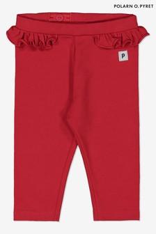 Polarn O Pyret Red Gots Organic Leggings