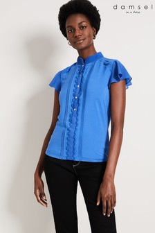 Damsel In A Dress Blue Sonja Frill Top