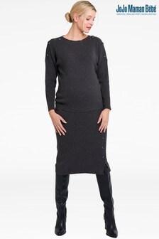 JoJo Maman Bébé Charcoal Rib Knitted Pencil Skirt