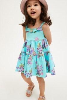 Blue Tiered Dress (3mths-7yrs)