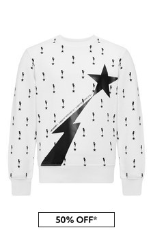 Neil Barrett Boys White Cotton Sweat Top
