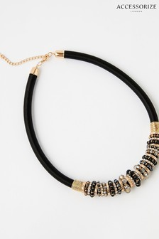 Accessorize Botswana Beaded Collar Necklace