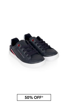 Tommy Hilfiger Kids Navy Trainers