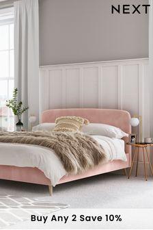 Opulent Velvet Blush Matson Bed
