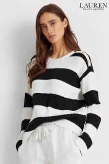 Lauren Ralph Lauren® Black White Stripe Jivandra Jumper