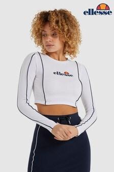Ellesse™ White Russia Crop T-Shirt