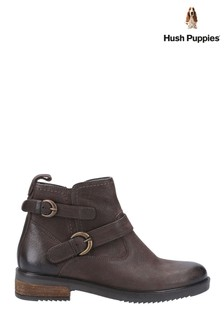 Hush Puppies Brown Beth Ankle Boots
