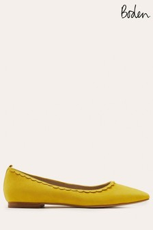 Boden Yellow Olive Ballerina Shoes